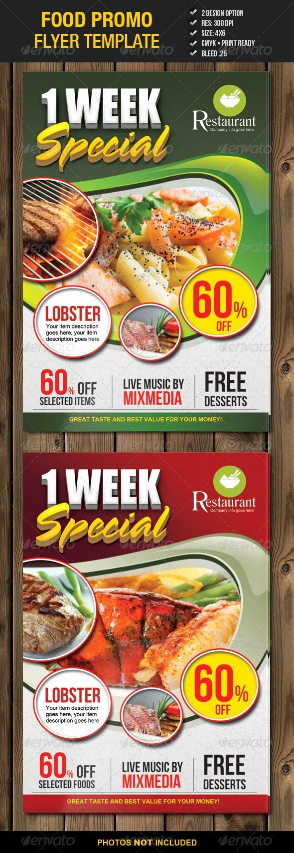 Promotion Flyer Template Free Awesome Food Promo Flyer Template 2