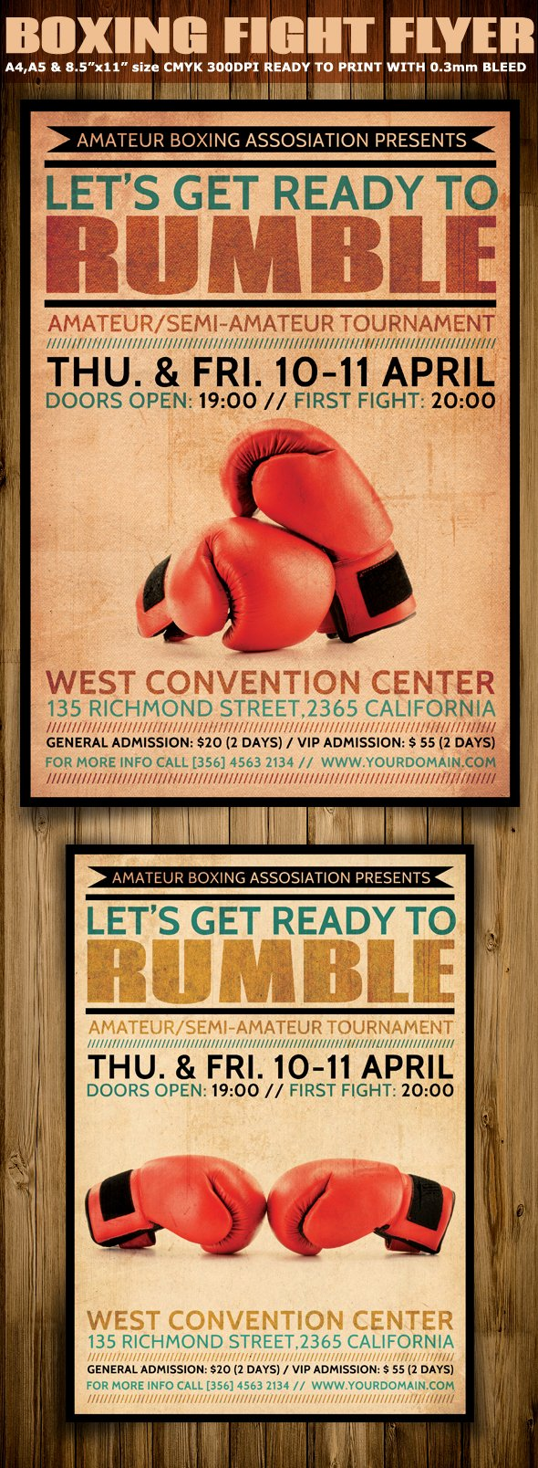 Promotion Flyer Template Free Beautiful Boxing Flyer Template