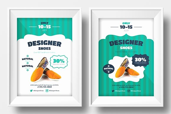 Promotion Flyer Template Free Inspirational New Shoes Promo Template Flyer Templates Creative Market