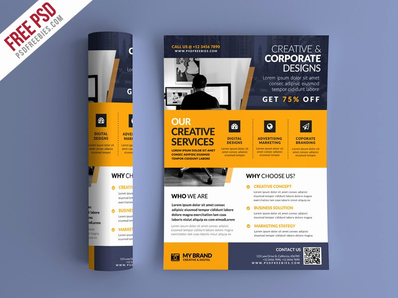 Promotion Flyer Template Free New Free Psd Business Promotional Flyer Psd Template by Psd