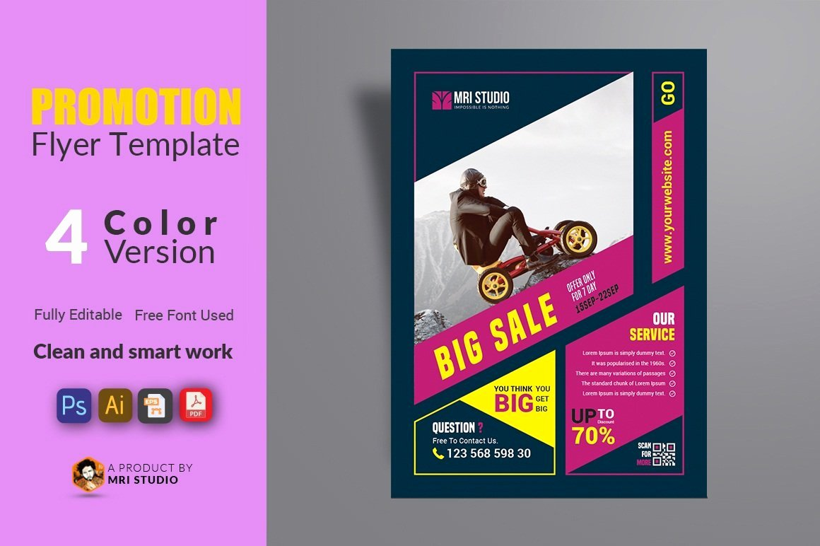 Promotion Flyer Template Free New Promotion Flyer Template Flyer Templates Creative Market