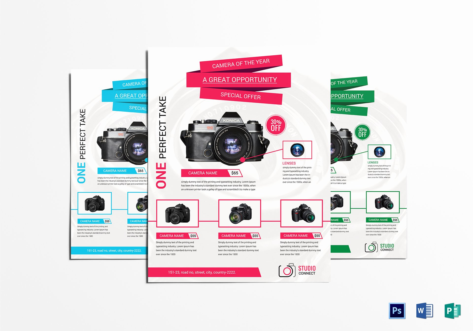 Promotional Flyers Template Free Awesome Camera Promotional Flyer Design Template In Psd Word
