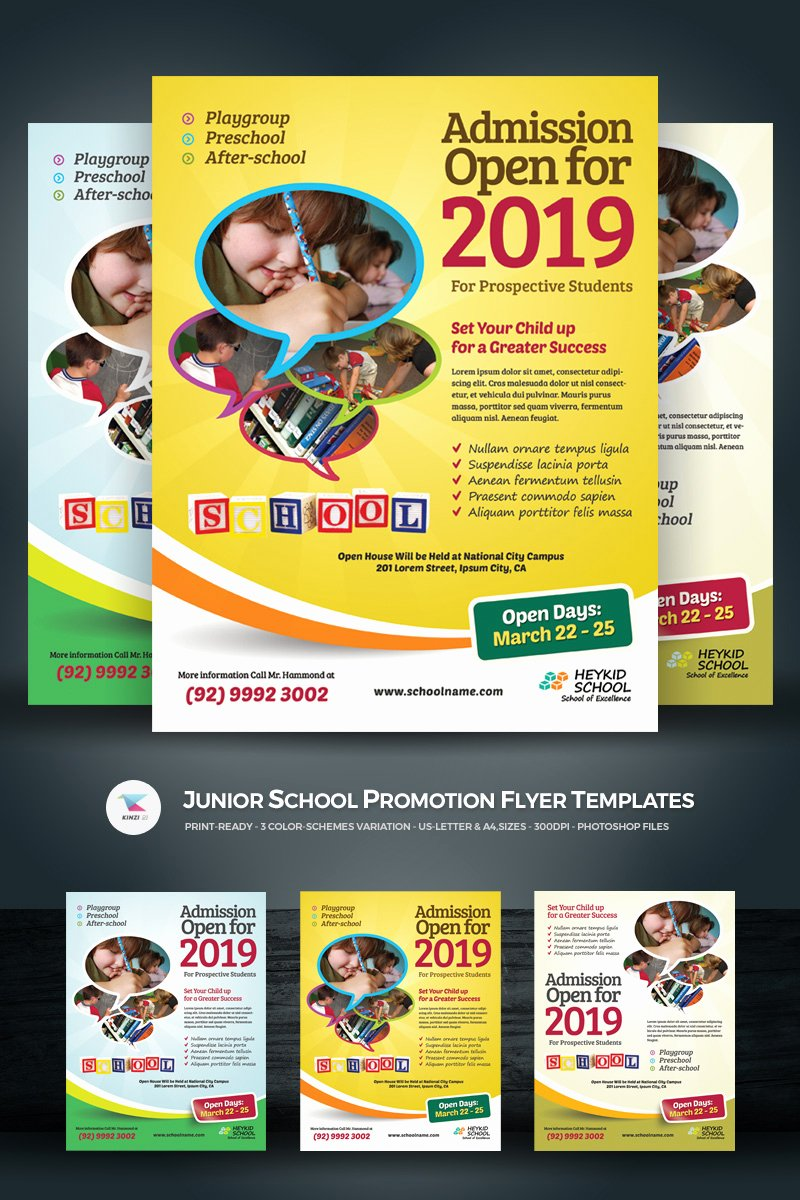 Promotional Flyers Template Free Best Of Junior School Promotion Flyer Psd Template
