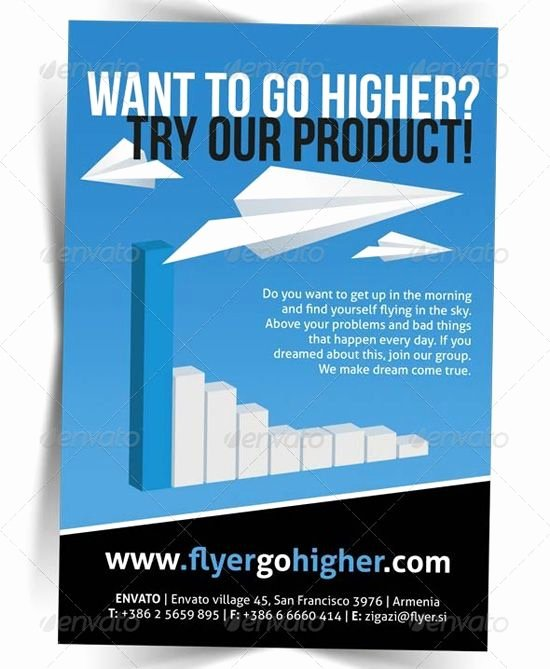 Promotional Flyers Template Free Elegant Business Promotion Flyer Template Brochures