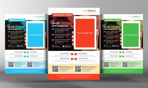Promotional Flyers Template Free Inspirational Mobile Apps Promotion Flyer Template Flyer Templates On