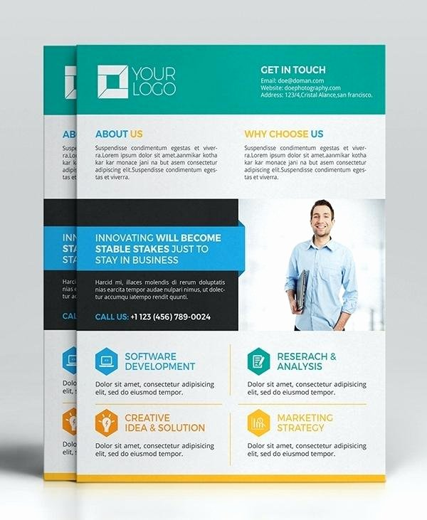 Promotional Flyers Template Free Unique Promotional Flyers Template – Baycablingfo