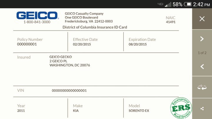Proof Of Car Insurance Template Unique Geico Insurance Card Print