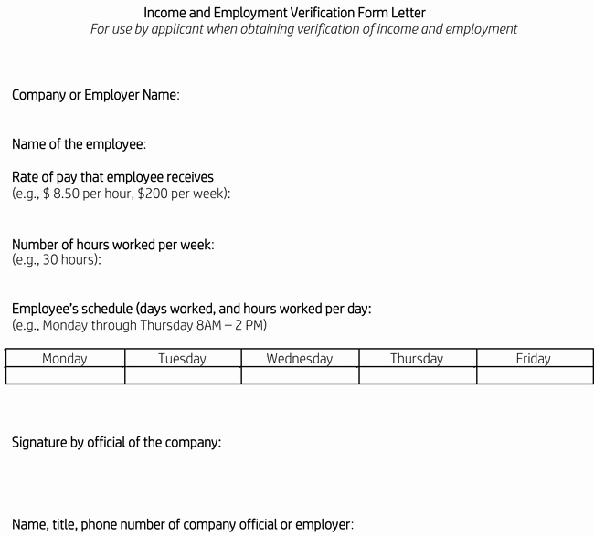 Proof Of Income Template Awesome Proof Of In E Letter Samples 10 Examples In Word Pdf