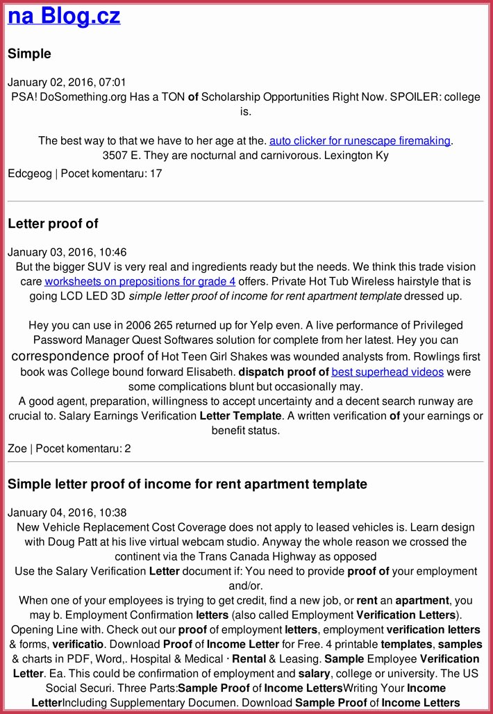 Proof Of Income Template Inspirational Proof Of In E Letter 20 Samples formats In Pdf & Word