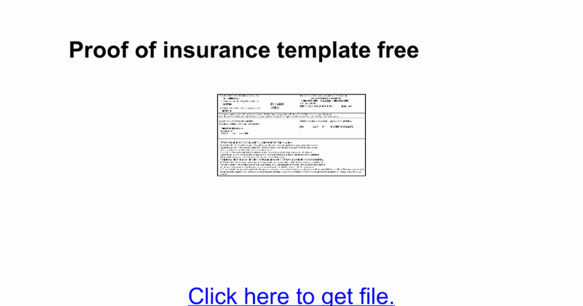 Proof Of Insurance Template Awesome Auto Insurance Template Insurance Card Template Free Auto