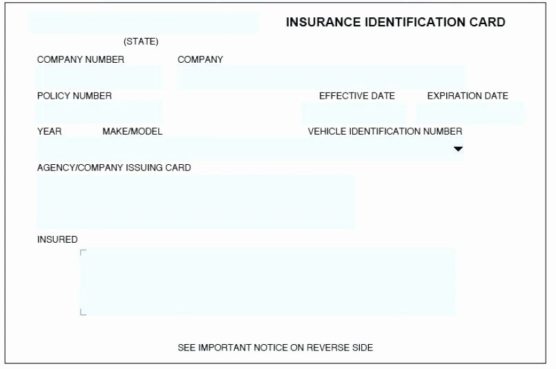 Proof Of Insurance Template Beautiful Proof Insurance Card Template Progressive Cards