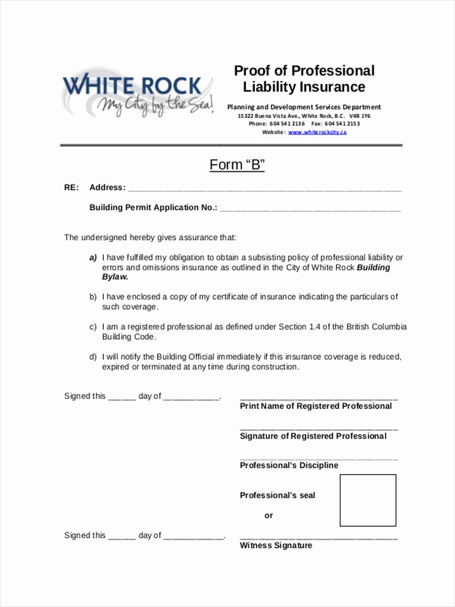 Proof Of Insurance Template Best Of 22 Liability form Templates