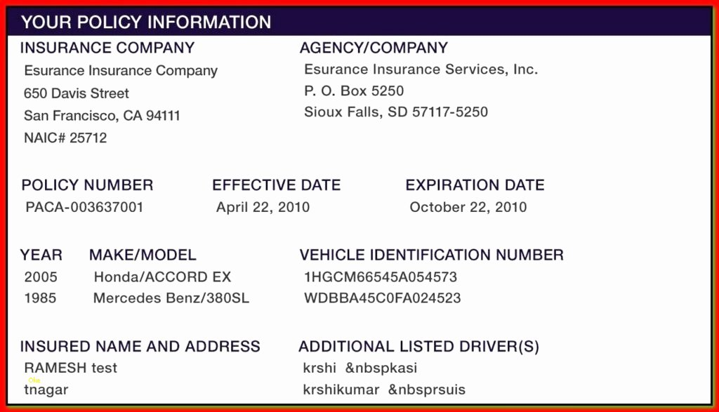 Proof Of Insurance Template Best Of Proof Of Auto Insurance Template Seven Things About Proof