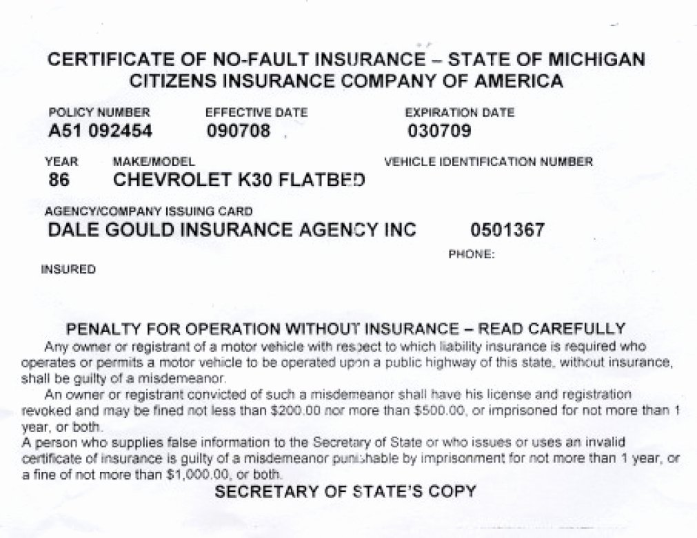 Proof Of Insurance Template Fresh Proof Auto Insurance Template Free