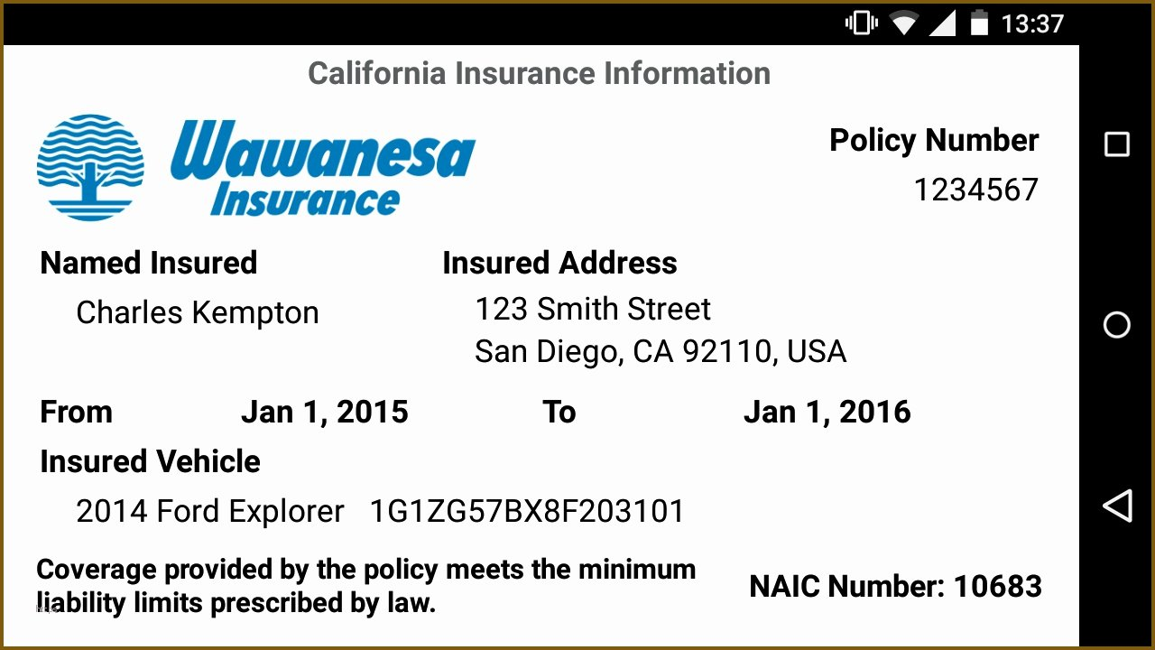 Proof Of Insurance Template Inspirational Car Insurance Template Wawanesa Understand the Background