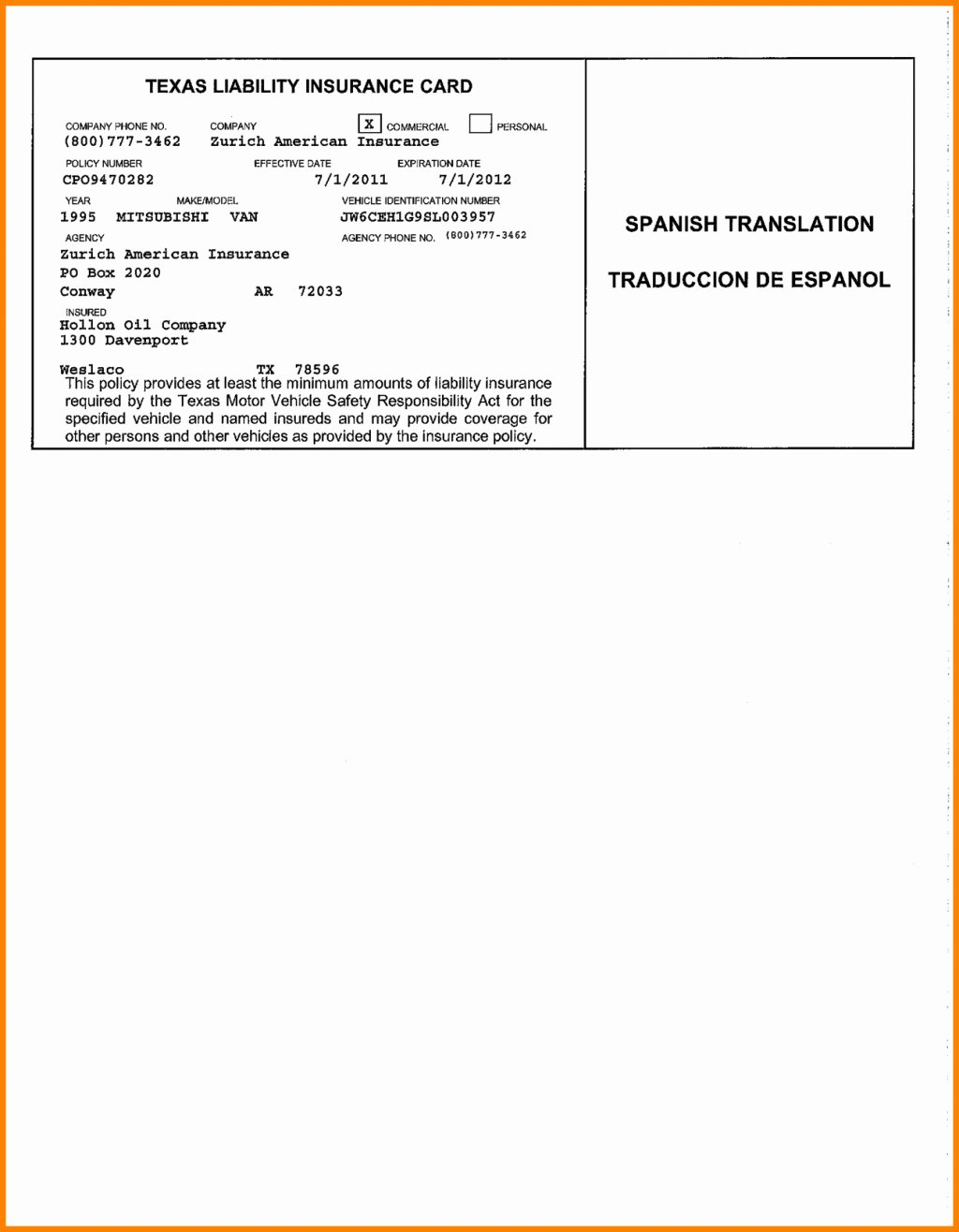 Proof Of Insurance Template New Blank Insurance Card Template Ten Secrets You Will Not
