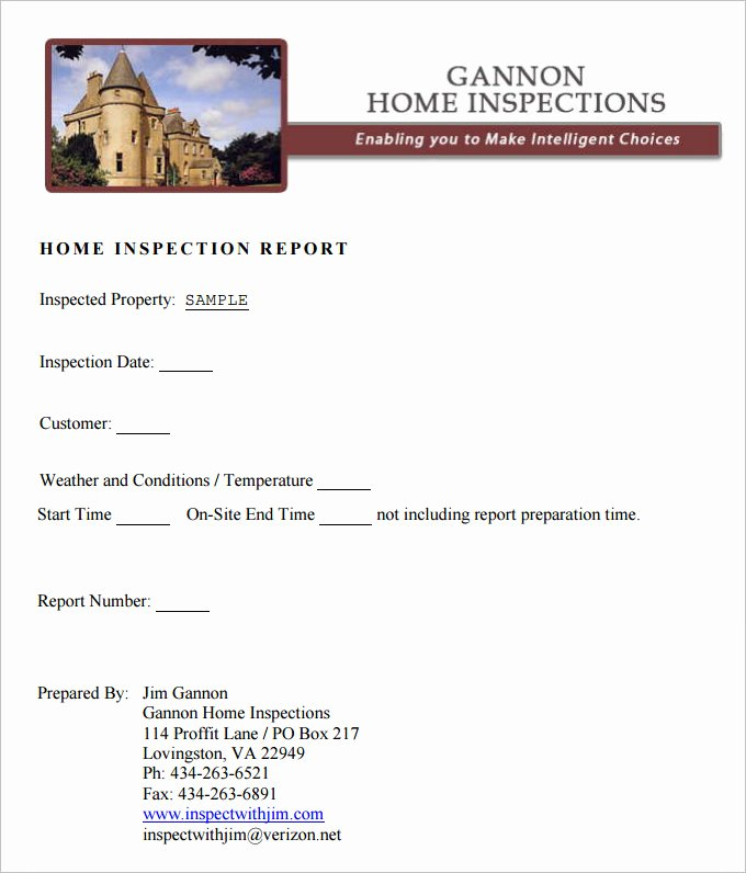 Property Inspection Reports Template Luxury 9 Sample Home Inspection Report Templates