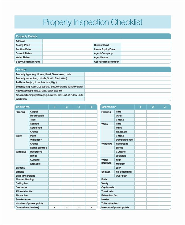 Property Inspection Reports Template Unique Home Inspection Checklist 13 Free Word Pdf Documents