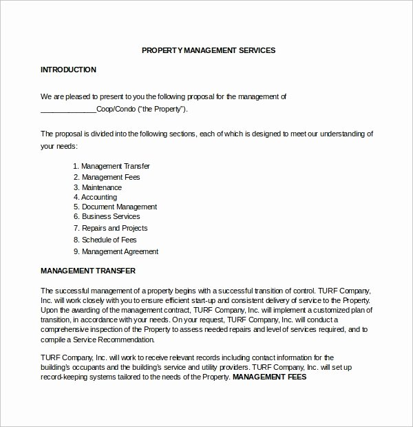 Property Management Proposal Template Awesome 14 Property Management Proposal Templates to Download