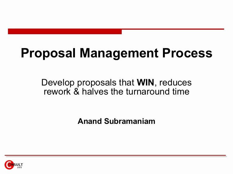 Property Management Proposal Template Best Of Proposal Management Process