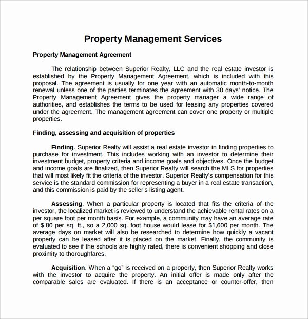 Property Management Proposal Template Lovely 14 Property Management Proposal Templates to Download