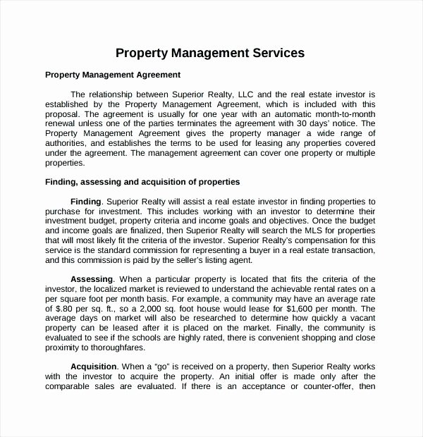 Property Management Proposal Template Lovely Property Management Wellington Agreement Elegant 8