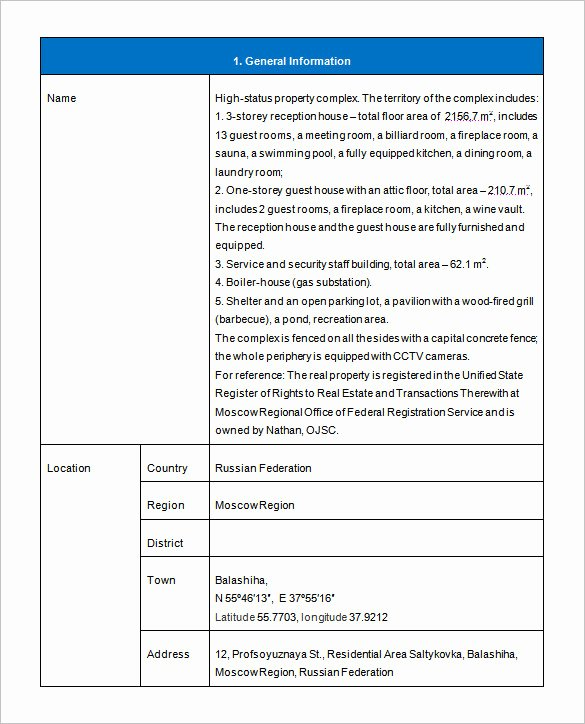 Property Management Proposal Template Lovely Real Estate Investment Proposal Template Real Estate