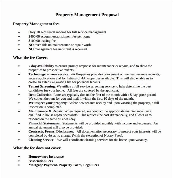 Property Management Proposal Template Unique 14 Property Management Proposal Templates to Download