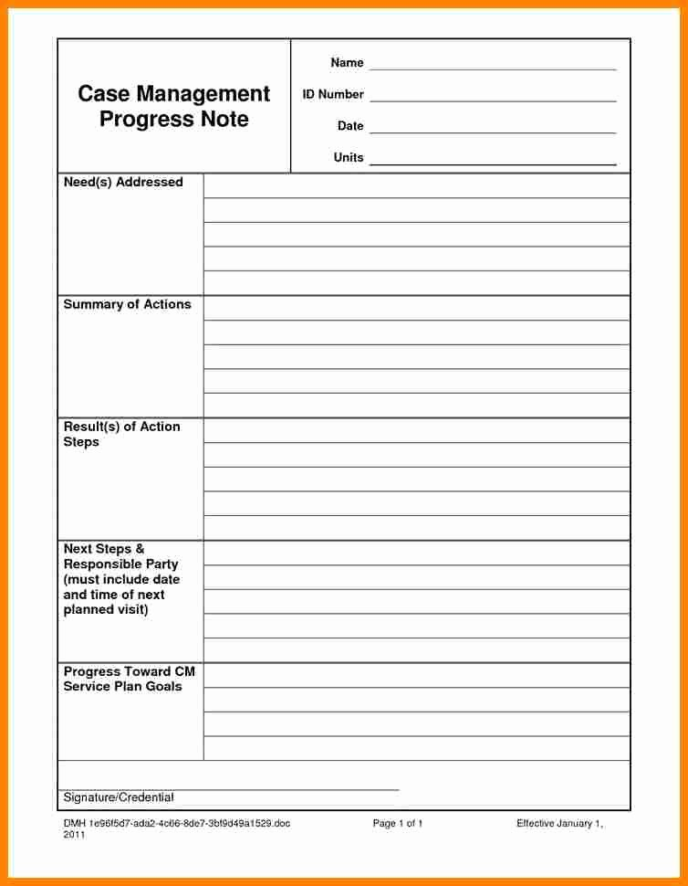 Psychotherapy Progress Note Template New 6 Psychotherapy Progress Note Template