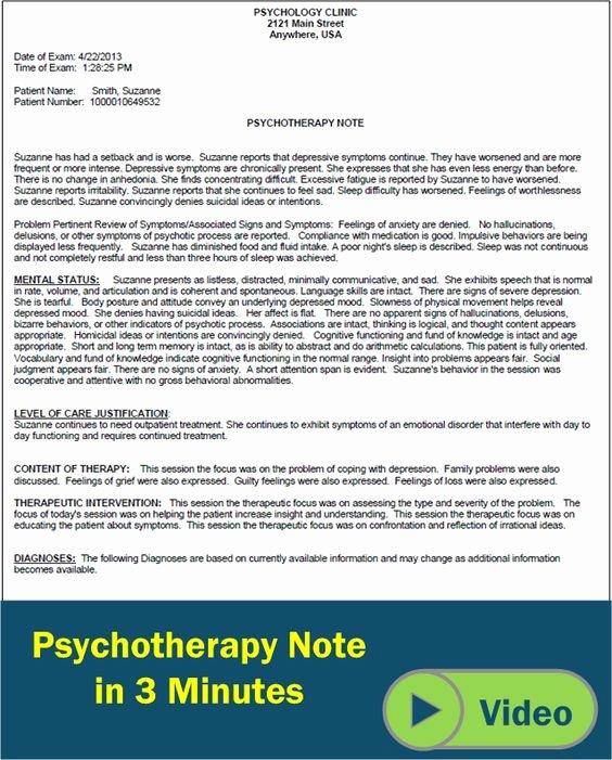 Psychotherapy Progress Notes Template Elegant Pinterest • the World's Catalog Of Ideas