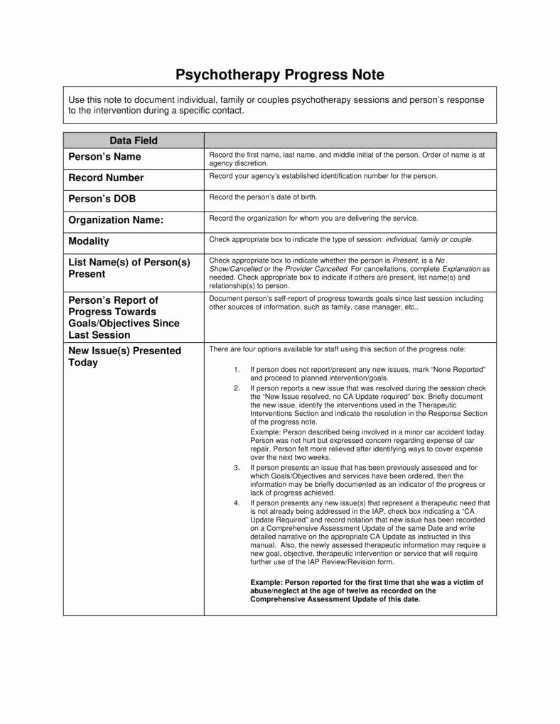 Psychotherapy Progress Notes Template Free Elegant 8 Psychotherapy Note Templates for Good Record Keeping