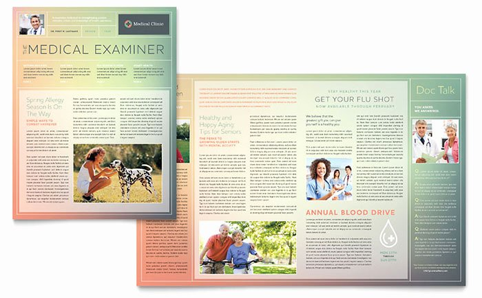 Publisher Newsletter Template Free Beautiful Medical Clinic Newsletter Template Word & Publisher