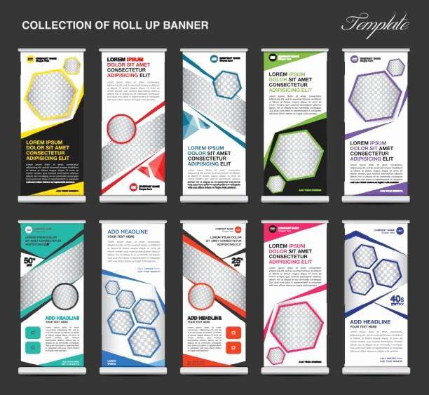 Pull Up Banner Template Awesome Royalty Free Rolled Up Sleeves Business Clip Art Vector