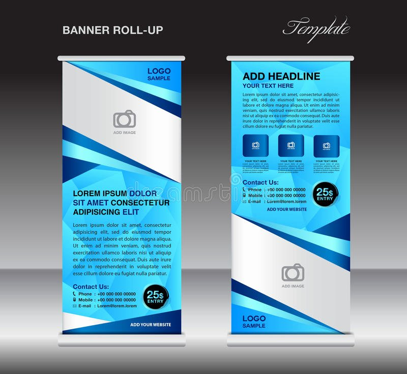 Pull Up Banner Template Beautiful Blue Roll Up Banner Stand Template Stand Design Banner