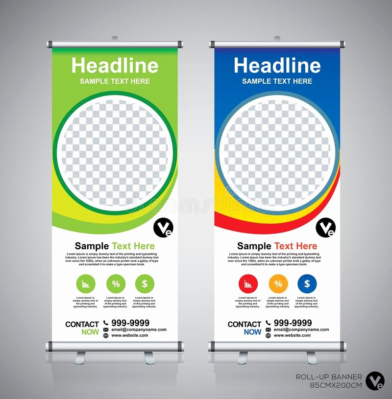 Pull Up Banner Template Beautiful Roll Up Banner Design Template Vertical Abstract