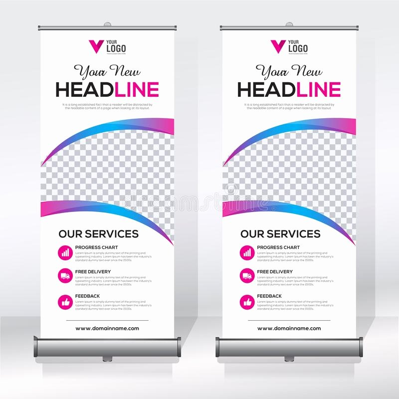 Pull Up Banner Template Best Of Roll Up Banner Design Template Vertical Abstract