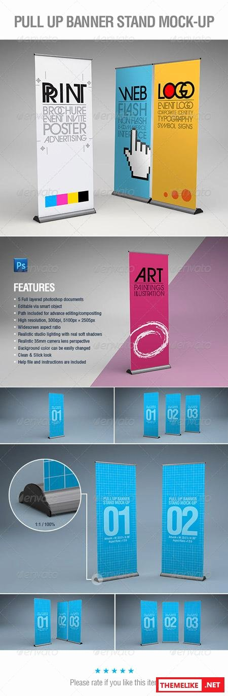 Pull Up Banner Template Elegant Graphicriver Pull Up Banner Stand Mock Up All Design