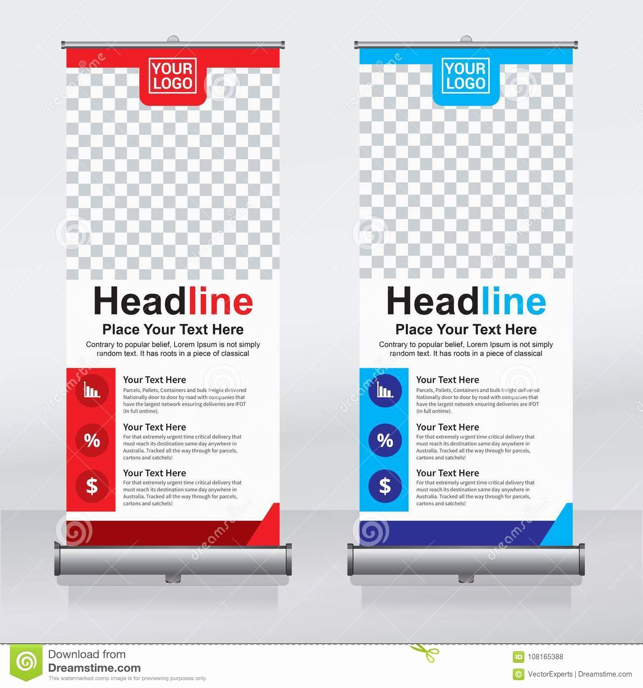 Pull Up Banner Template Elegant Roll Up Banner Design Template Vertical Abstract