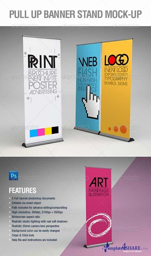 Pull Up Banner Template Fresh Graphicriver Pull Up Banner Stand Mock Up
