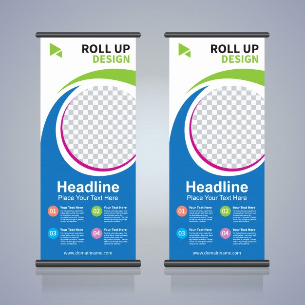 Pull Up Banner Template Fresh Roll Up Brochure Flyer Banner Design Template Abstract
