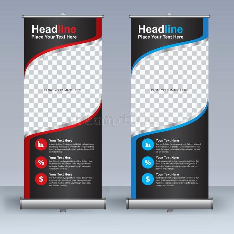 Pull Up Banner Template Inspirational Roll Up Banner Design Template Vertical Abstract
