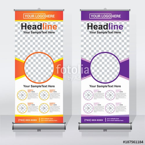"Pull Up Banner Template Lovely ""roll Up Banner Design Template Abstract Background Pull"