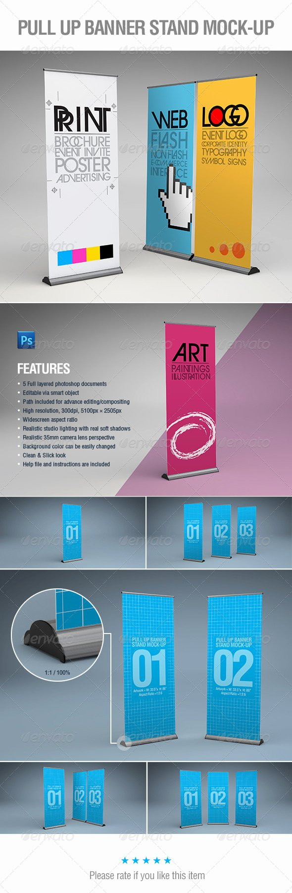 Pull Up Banner Template Luxury Presentation Template Graphicriver Pull Up Banner Stands