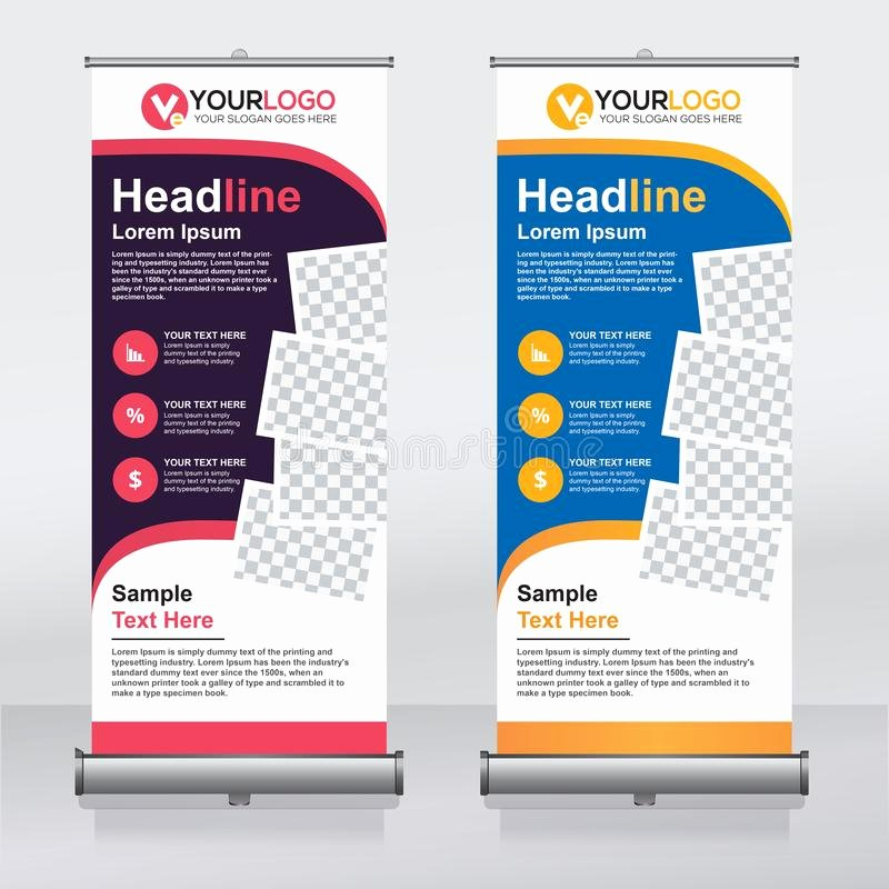 Pull Up Banner Template Luxury Roll Up Banner Design Template Vertical Abstract