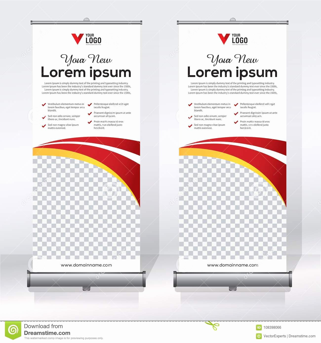 Pull Up Banner Template New Roll Up Banner Design Template Vertical Abstract