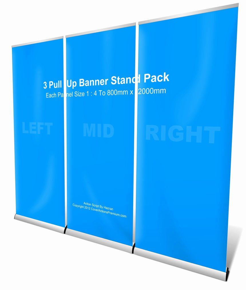 Pull Up Banner Template Unique 3 Roll Up Banner Stand Pack Mockup