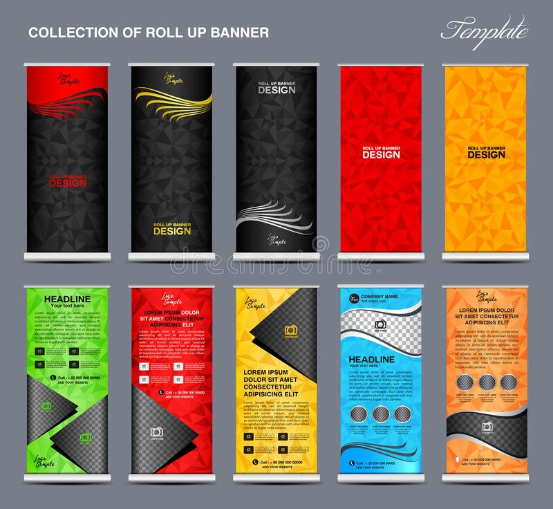 Pull Up Banner Template Unique Collection Colorful Roll Up Banner Design Stand