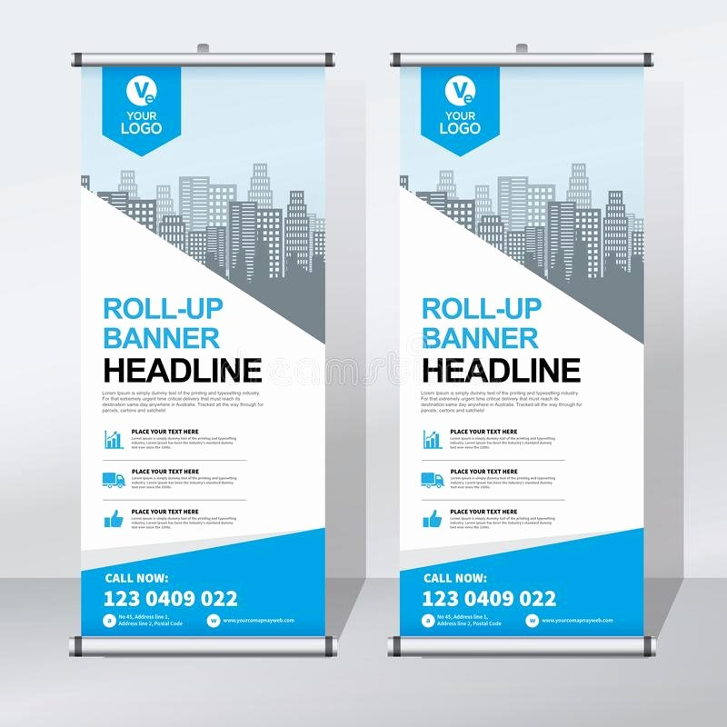 Pull Up Banner Template Unique Roll Up Banner Design Template Vertical Abstract