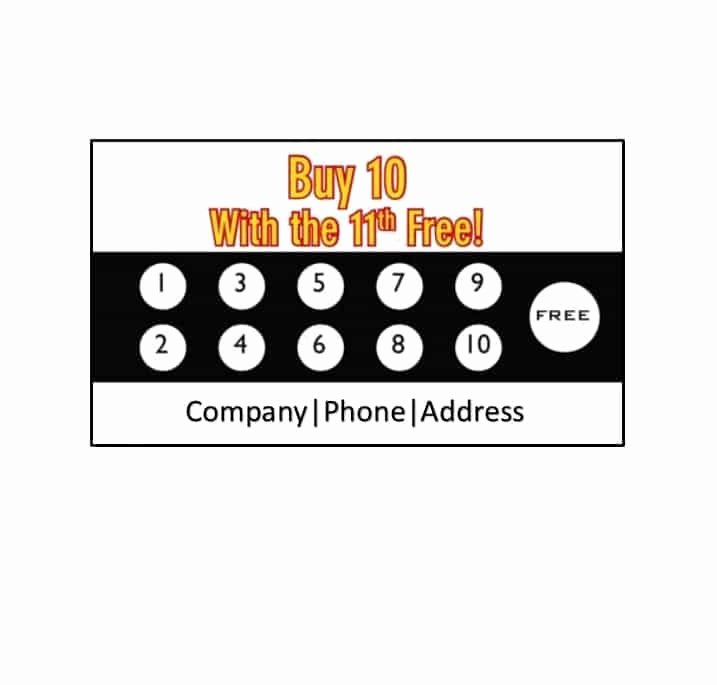 Punch Card Template Free Downloads Beautiful 30 Printable Punch Reward Card Templates [ Free]