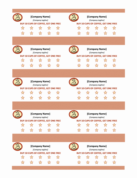 Punch Card Template Free Downloads Elegant Food Preparation to Presentation Widescreen Fice